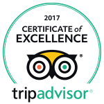 Basecamp Adventure Certificate of Excellent Tripadvisor