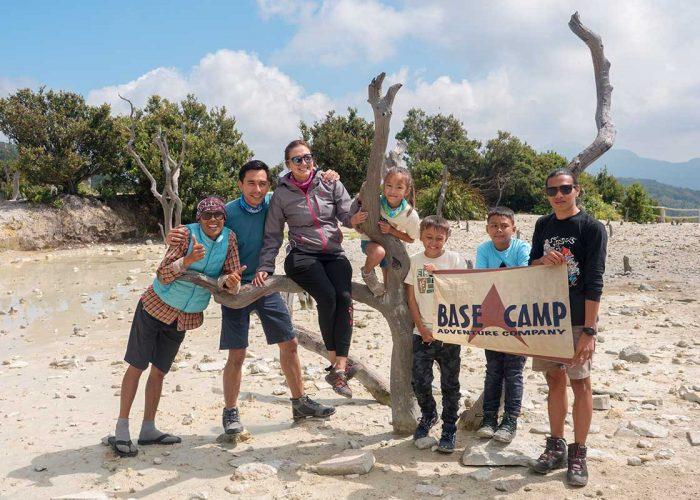 Darius Sinatrya Family Trekking Mount Papandayan
